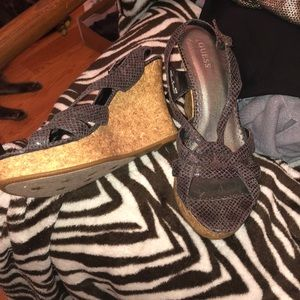 Guess wedge sandals size 10